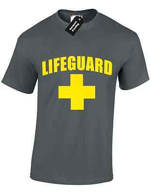 Lifeguard Mens T Shirt Funny Tv Show Inspired Party Novelty Swim Gym Gents New