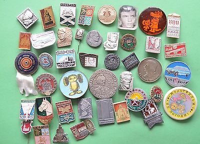 Lot of different  Badges of USSR