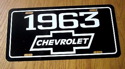 1963 Chevrolet license plate tag 63 BEL AIR IMPALA BISCAYNE CHEVY TRUCK 2 BELAIR
