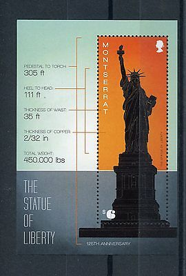 Montserrat 2011 MNH Statue of Liberty 125th Anniversary 1v S/S New York Stamps