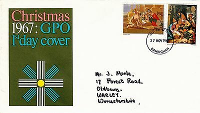 Christmas 1967 GPO First Day Cover