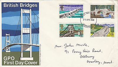 GPO First Day Cover British Bridges 1968