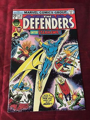 Marvel The Defenders issue #28 1st Appearance Starhawk first print (A5)