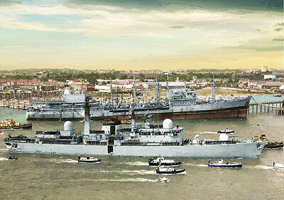 Hms Exeter - Hand Finished, Limited Edition Art (25)