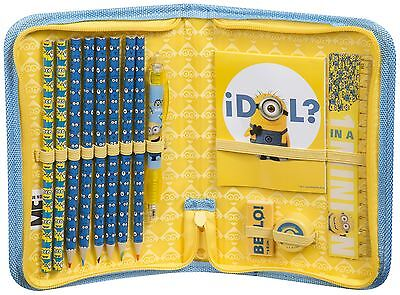 Offical Licensed   DESPICABLE ME MINION   Filled Pencil Case 14 Stationery Items
