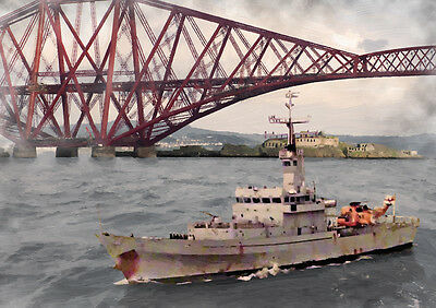 HMS DUMBARTON CASTLE '82 Return' - HAND FINISHED, LIMITED EDITION ART (25)
