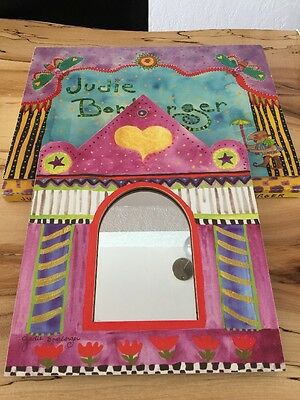 Judie Bomberger Gold Heart Mirror With Box