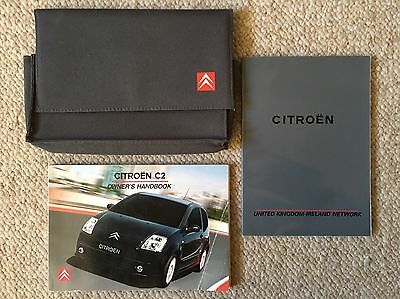 Citroen C2 Owners Manual Handbook Set With Wallet 2003 - 2005