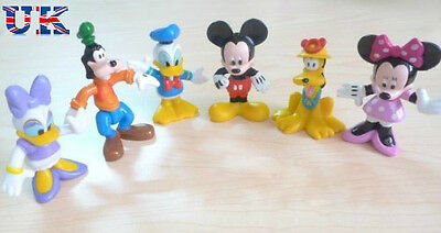 Mickey Mouse Figures cake topper play set gift for kids 6 pcs