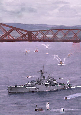 HMS PLYMOUTH '82 Return' - HAND FINISHED, LIMITED EDITION ART (25)