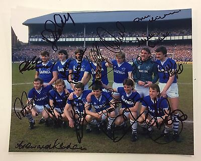 Multi Signed Everton 1985 League Champions Team Photo & COA - Signed x 17