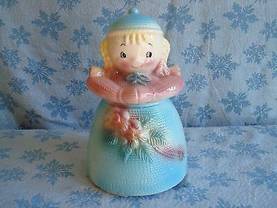 "Vintage  American  Bisque ""YARN DOLL Cookie Jar*Excellent without Damage*Rare"