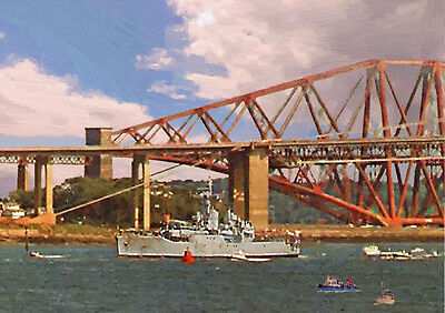 HMS YARMOUTH '82 Return' - HAND FINISHED, LIMITED EDITION ART (25)