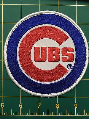 """Chicago Cubs """"Cubs"""" Sleeve Patch Jersey Official MLB Primary Team Logo Emblem"""