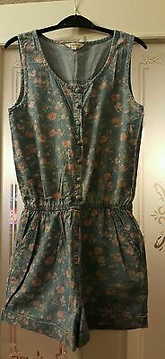 Girls Shortsuit Blue Flowered. Age 12-13 years