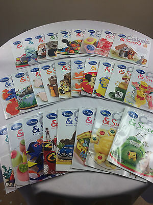 Bundle of 27 Disney Cakes & Sweets Magazines - Issues 32 - 58 - Magical Recipes