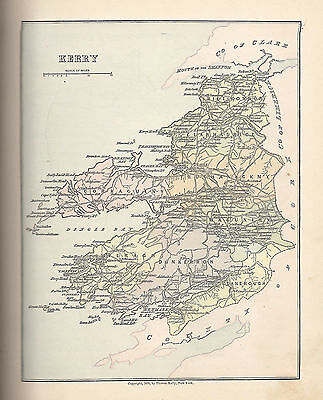 Antique Map of County Kerry, Ireland