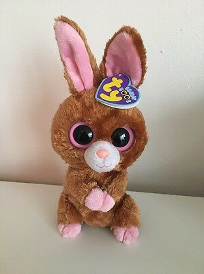 Rare & Retired Ty Beanie Boo Boos Hopson Bunny Rabbit Soft Plush Toy