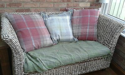 Wicker Rattan 2 seater and chair Sofa Settee