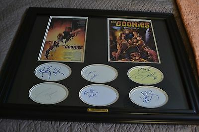 Autographs Of Cast The Goonies 1985