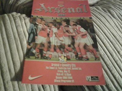 99.00 Arsenal v Coventry FA YOUTH CUP FINAL