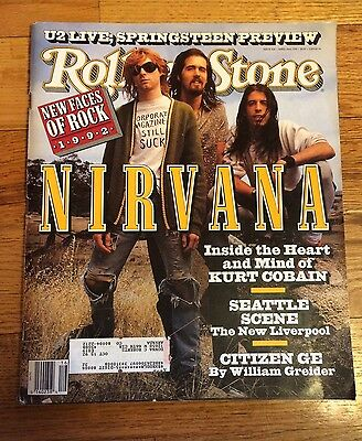 Rolling Stone April 16th 1992 1st NIRVANA Cover #628 KURT COBAIN Grunge Seattle