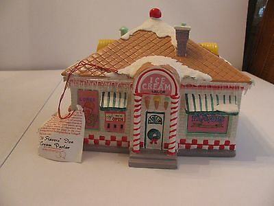 "Dept 56 Snow Village #5151-9 - ""56 Flavors"" Ice Cream Parlor - Retired"