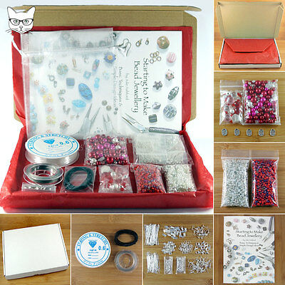 Gift Boxed Valentine's Day Jewellery Making Starter Kit & Beginners Instructions