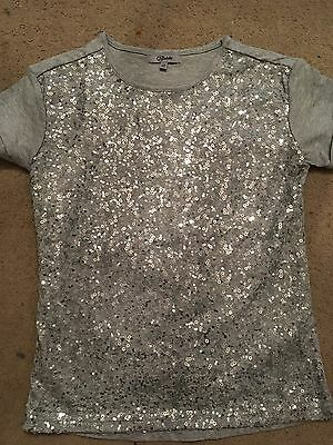 Grey sequin Girls Top Aged 10-11years