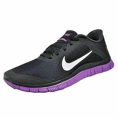 Nike Free 4.0 v3 Womens Running Shoes Fitness Gym Trainers Black UK 6