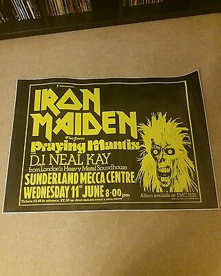 iron maiden gig poster