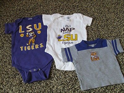 LSU Tigers Baby Outfit Lot of 3