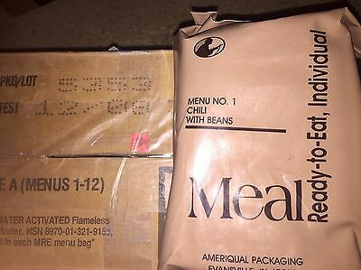 Menu No.1 Chili With Beans MRE Ameriqual Packaging Unopened Socom Issue