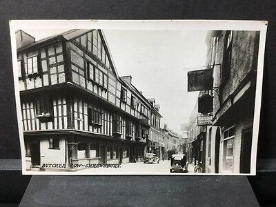 Shropshire Shrewsbury Butchers-Row Real Photo Postcard Smiths Commercial Hotel