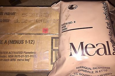 Menu No. 8 Beef Patty MRE Ameriqual Packaging Unopened Socom Issue
