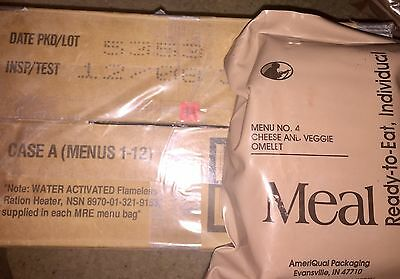 Menu No.4 Cheese And Veggie Omelet MRE Ameriqual Packaging Unopened Socom Issue