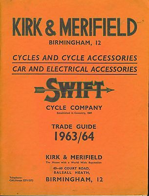 Swift Cycles Catalogue Kirk and Merryfield Catalogue 1963-64 Cycle Accesories