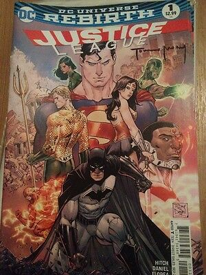 DC Justice League #1 DC Rebirth 1st Print Signed By Tomeu Morey