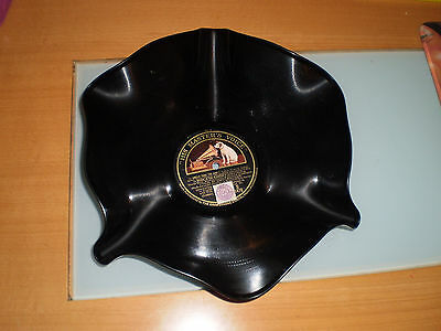 Fruit Bowl Made from Vintage 'His Master's Voice' HMV Gramophone Vinyl LP Record