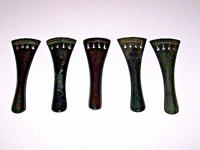 5 Vintage Violin / Fiddle Tailpieces Parts Free Shipping