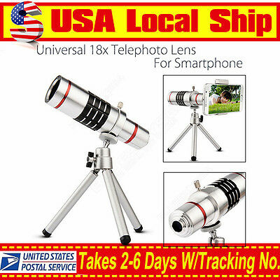 Local! 18x Zoom Phone Telephoto Lens+ Tripod Kit For iPhone Android Smartphone