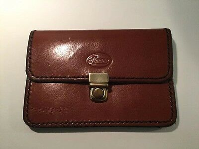 Vintage Amano Tan Leather Wallet / Purse With Belt Loops
