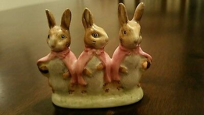 Beatrix potter by Beswick F Warne & co Flopsy Mopsy and cottontail