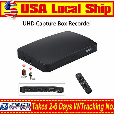 4K UHD USB 1080P HDMI Game AV Video Capture Recorder Box W/ Remote Control Play