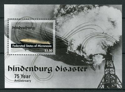 Micronesia 2012 MNH Hindenburg Disaster 75th 1v S/S Airships Zeppelins Stamps