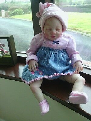 Cute Realistic  Lexi By Sandra White Reborn Baby Girl Doll Rooted Hair