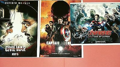 "8"" x 6""   GLOSSY  PHOTOGRAPHIC   PRINTS X 3 CAPTAIN AMERICA AVENGERS"