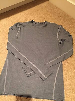 NEW* Mens Cycle/Running/GYM Thermal Compression Base Layer Skin Grey M (UK)