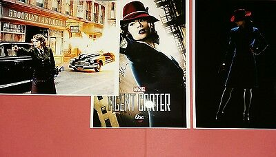"8"" x 6""   GLOSSY  PHOTOGRAPHIC   PRINTS X 3 MARVEL AGENT CARTER"