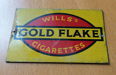 Vintage WILL'S GOLD FLAKE CIGARETTES Advertising Tinplate Hornby Railway Sign